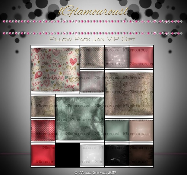 Glamourous Pillow Pack JAN VIP GIFT~RESELL RIGHTS~ ~VIP Members Only Get Gift~