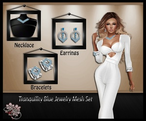 Tranquility Blue Jewelry Mesh Set