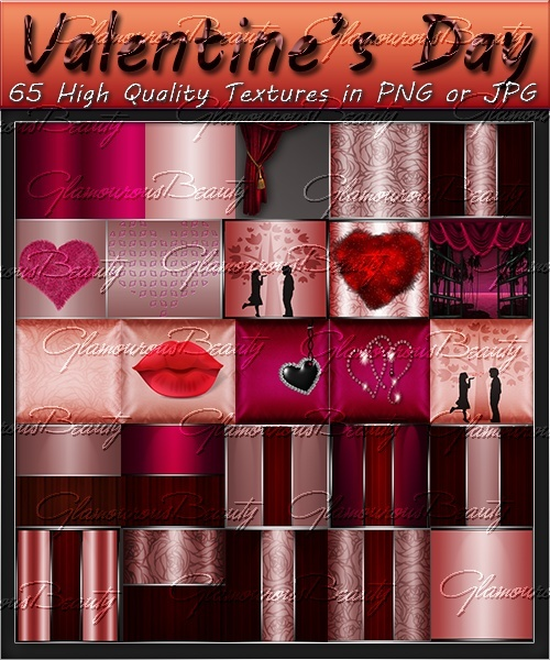 Valentine's Day Textures Pack