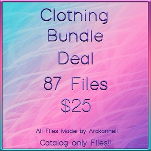 Clothing Bundle Deal A 87 Files CATALOG ONLY!!!!