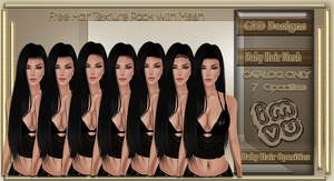 Baby Hair Mesh PLUS Hair Texture Pack - CATALOG ONLY USE
