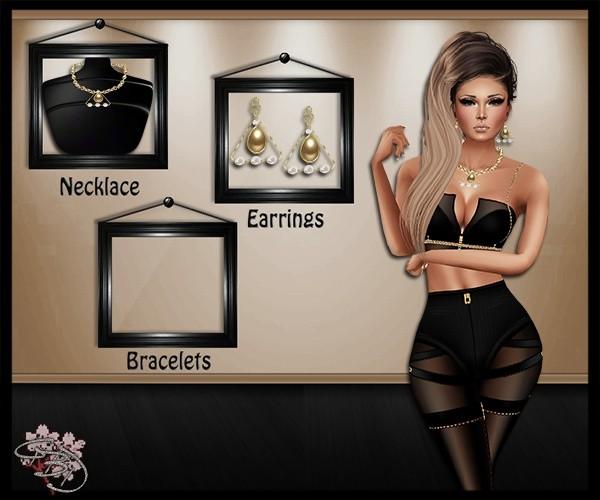 Angular Pearls Jewelry Mesh Set
