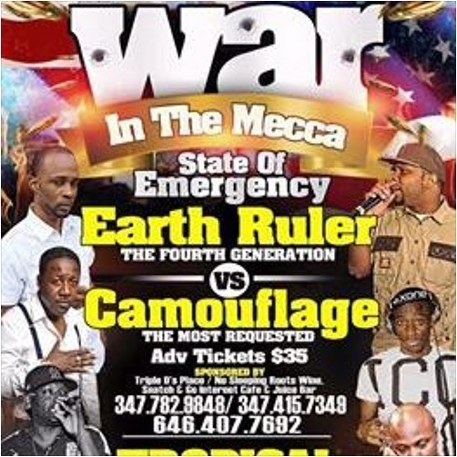 War in Tha Mecca - Earth Ruler v Camouflage@Tropical Paradise Brooklyn NY 2.7.2016