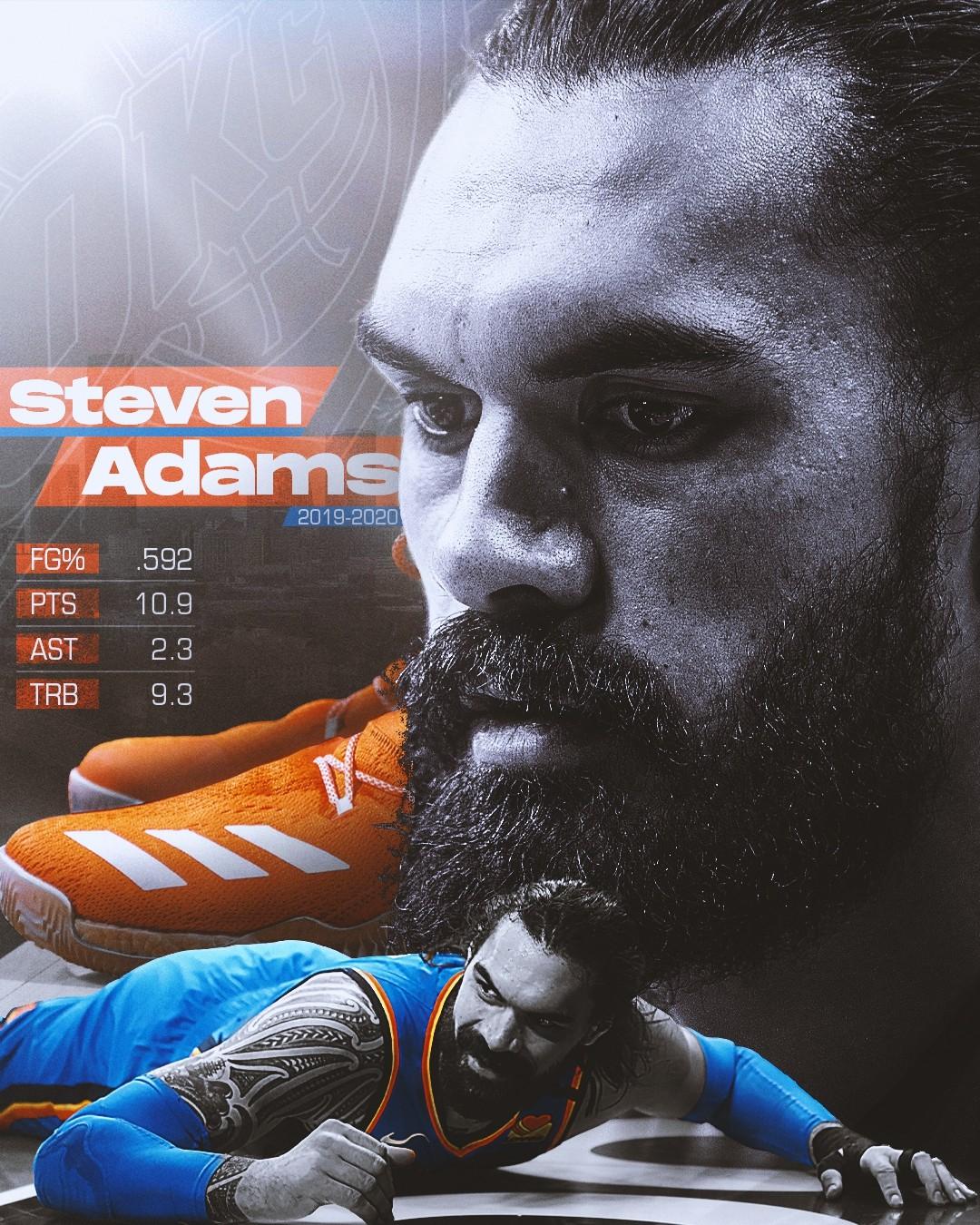 Steven Adams 19-20 Stats Infographic ...
