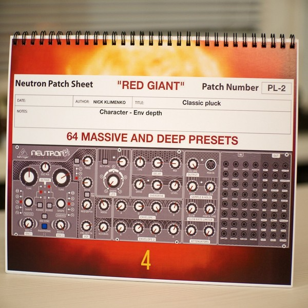 Behringer Neutron - Physical Booklet
