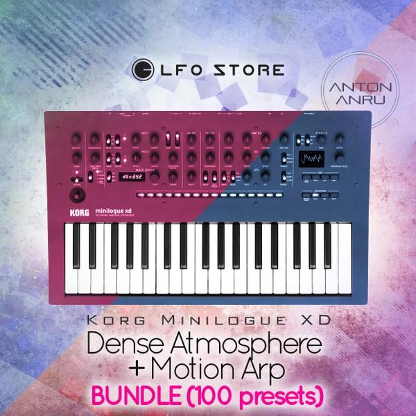 Korg Minilogue XD - 100 Presets Bundle (Motion Arp+Dense Atmosphere) by Anton Anru