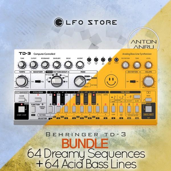 Behringer TD-3 - 128 Patterns BUNDLE Acid Bass Line and Dreamy Sequences