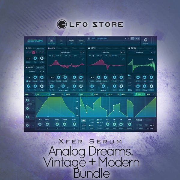 Xfer Serum - Analog Dreams. Vol.1 - Vintage + Vol.2 Modern (SALE)