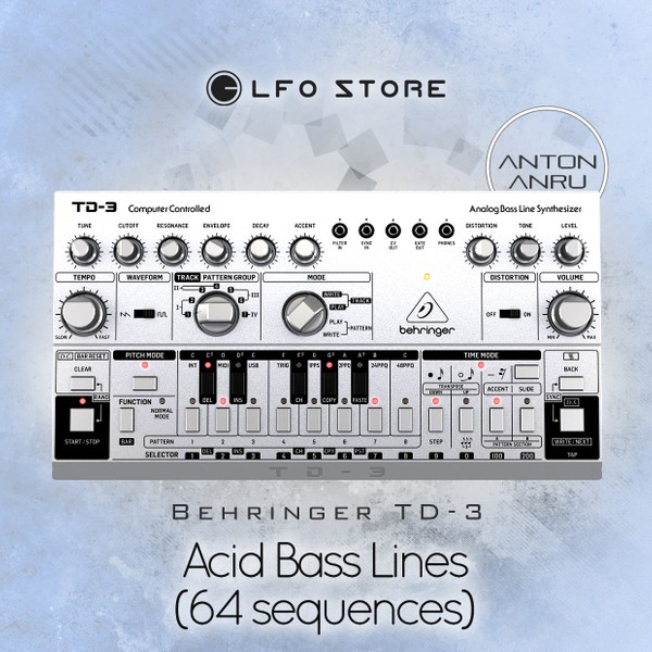 Behringer TD-3 - Acid Bass Lines (64 sequences) by Anton Anru