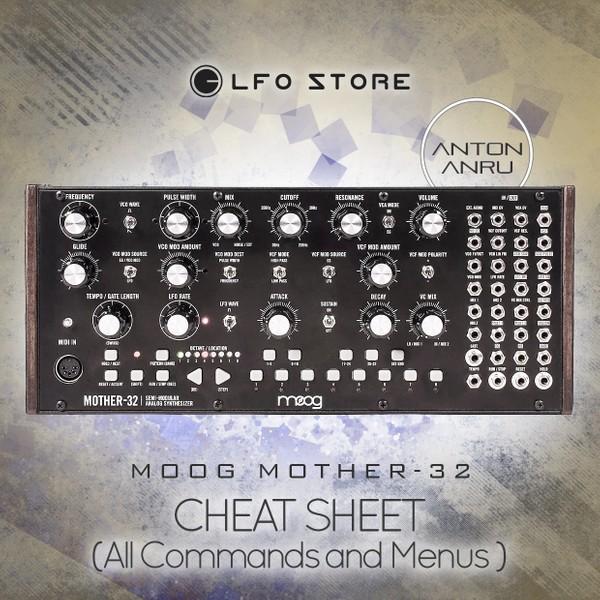 Moog Mother-32 - Cheat Sheet (by Anton Anru)