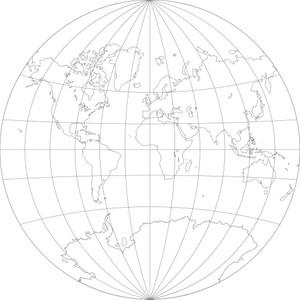 World Map-Van der Grinten I Projection