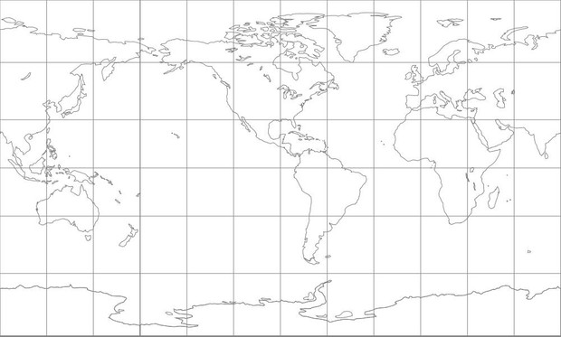 World Map-Compact Miller Projection