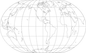 World Map-Winkel II Projection