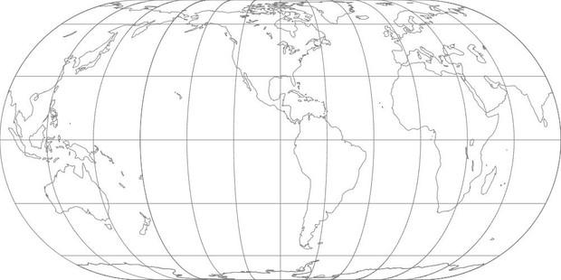 World Map-Eckert IV Projection