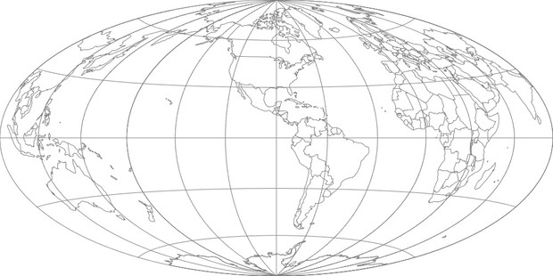 World Map-Hammer Projection