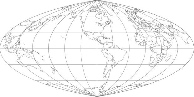 World Map-Putnins P1 Projection