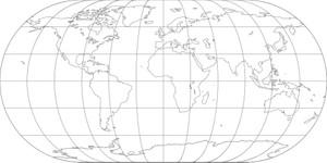 World Map-Eckert III Projection