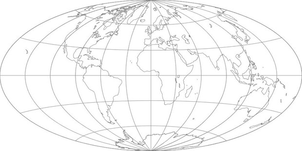 World Map-Aitoff Projection
