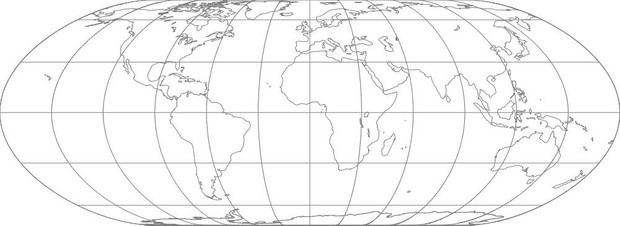 World Map-Nell Hammer Projection