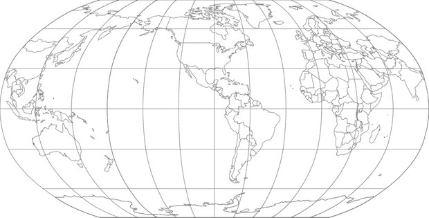 World Map-Robinson Projection