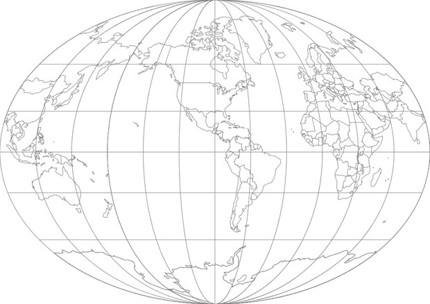 World Map-Fahey Projection