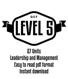 QCF Level 5 Complete Course (27 Units)