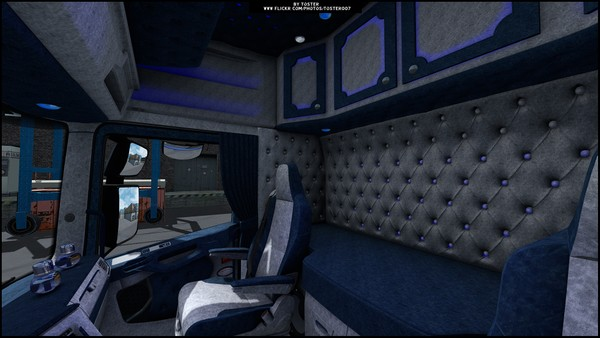 Interior Scania S/R Next GenBlue White ETS 2