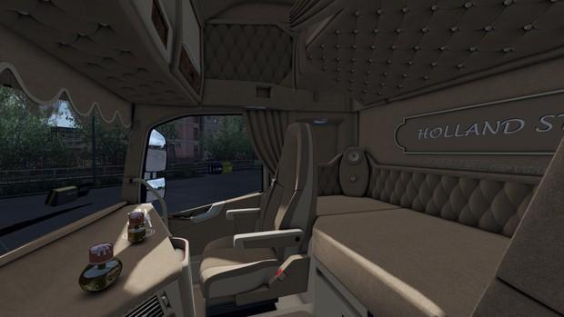 Interior Volvo FH 2012 Biege ETS 2 - TosteR007 Custom