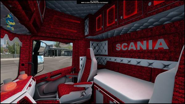 Interior Scania S/R Next Gen RED ETS 2