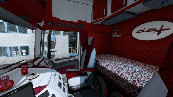 Interior DAF Euro 6 HOLLAND DANISH RED ETS 2 #2