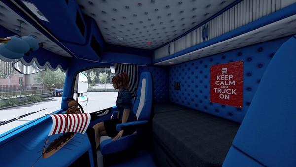 Interior Volvo FH 2012 Blue ETS 2