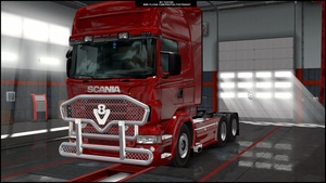 V8 Front Grill addon for Scania RJL ETS 2