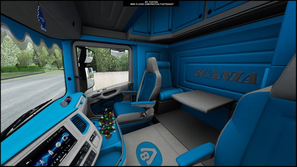 Interior Scania S/R Next Gen BLUE ETS 2