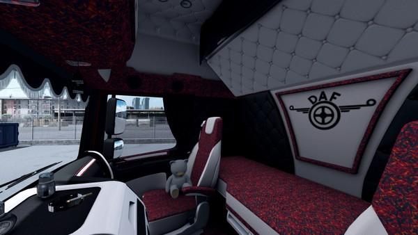 Interior DAF Euro 6 HOLLAND DANISH White Black ETS 2 #4