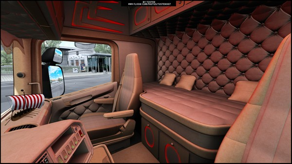 Interior Scania by RJL V8 Holland ETS 2