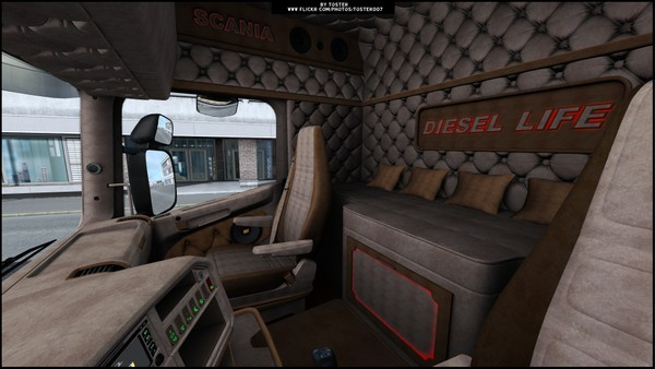 Interior Scania by RJL DIESEL ETS 2
