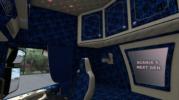 Interior Scania S NEXT GEN SCS HOLLAND DANISH BLUE ETS 2