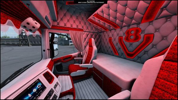 ✅ Interior Scania S/R Next Gen HOLLAND RED ETS 2 ✅