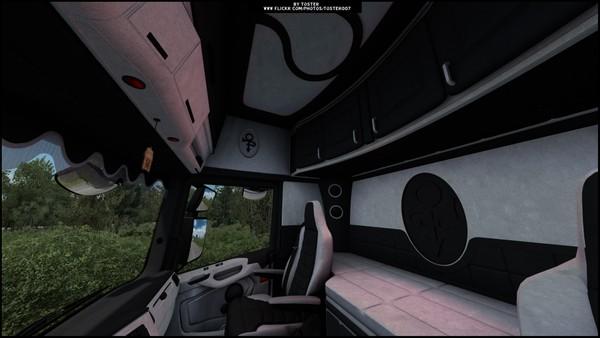 Interior Scania S/R Next Gen White Black ETS 2