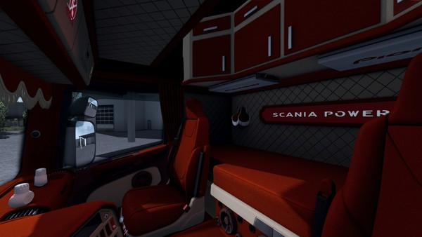 Interior Scania RJL HOLLAND DANISH RED BIEGE ETS 2