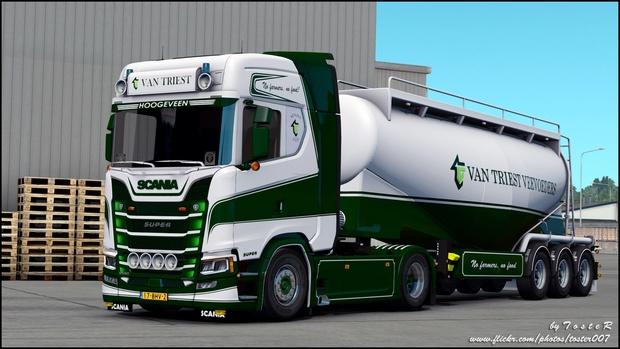Scania S Van Triest Transport ETS 2