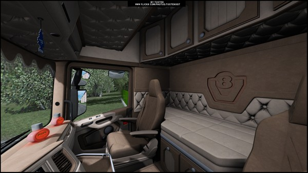 Interior Scania S/R Next Gen CREAM ETS 2