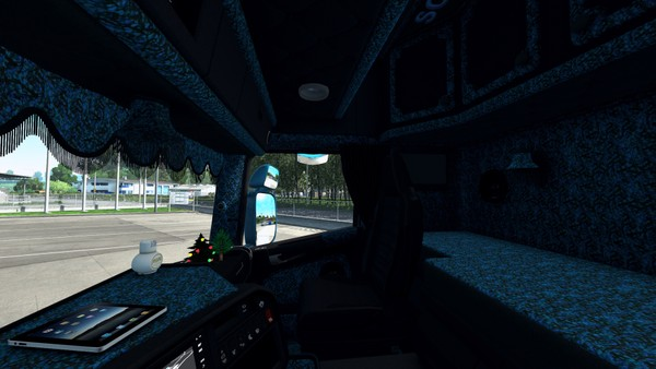 Interior Scania RJL Blue Vabis ETS 2