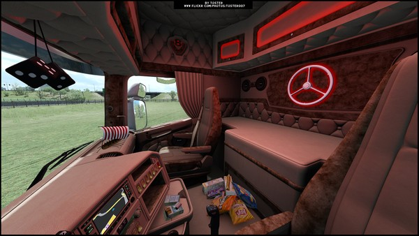 Interior Scania RJL RED VABIS ETS 2