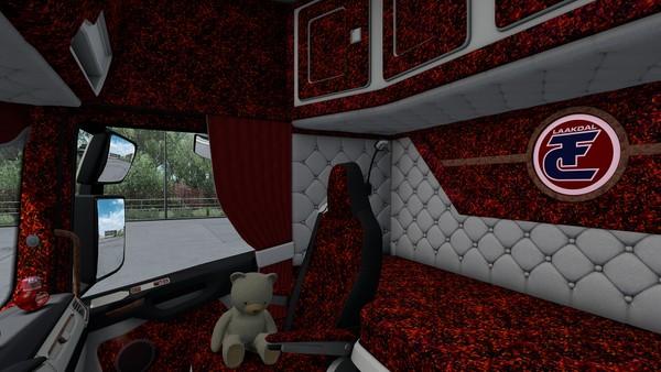 Interior for Scania S Next Gen HOLLAND DANISH RED SCS ETS 2