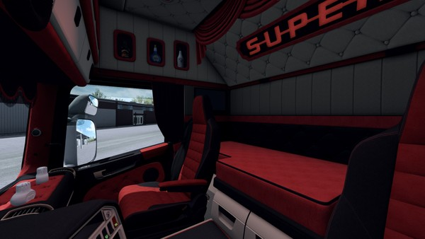 Interior Scania RJL HOLLAND DANISH RED  ETS 2 ™