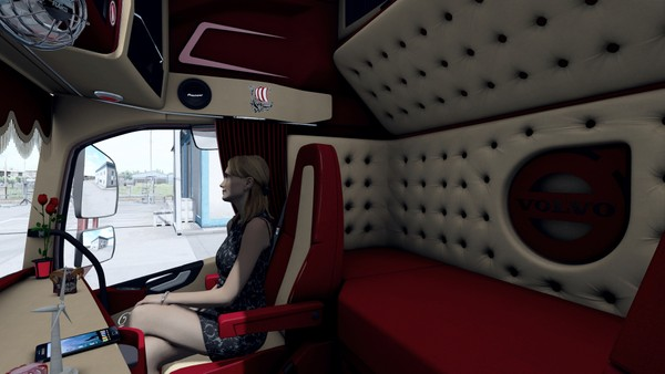 Interior Volvo FH 2012 RED ETS 2