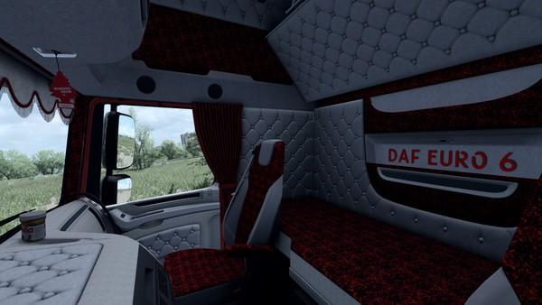 Interior DAF Euro 6 HOLLAND DANISH White ETS 2 #3
