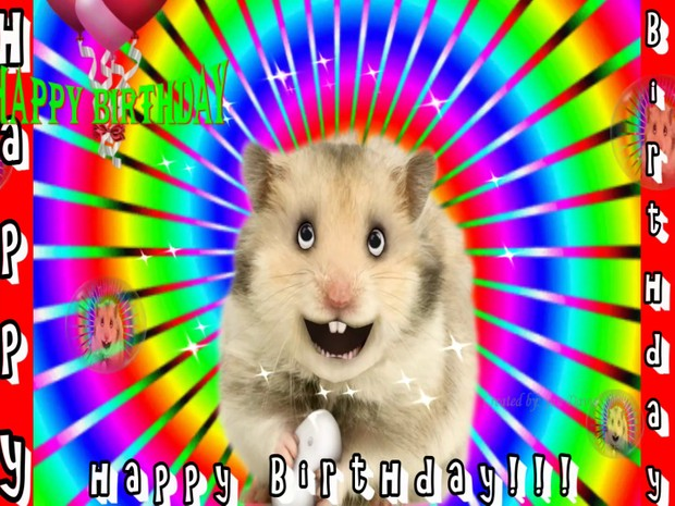 Harry The Hamster Happy Birthday Wishes