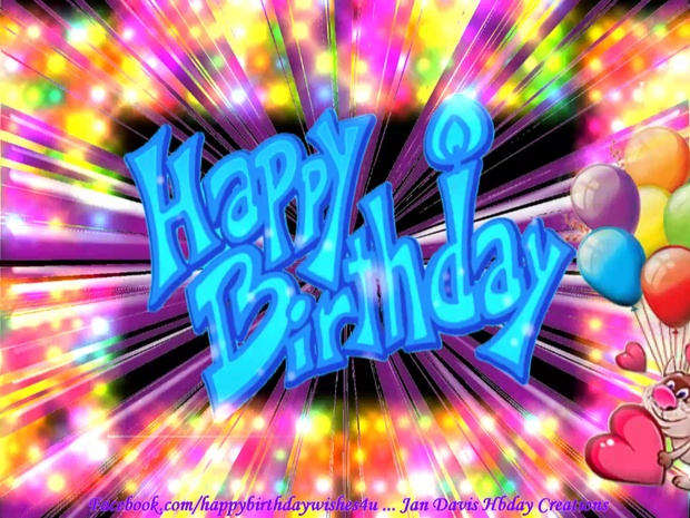 Flashy Colorful Happy Birthday Wishes